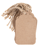 Blank Fashion Tags With Twine