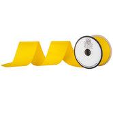 """Yellow Matte Grosgrain Ribbon - 2"""""""
