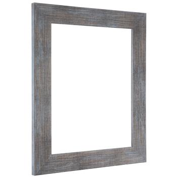 Turquoise Wash Wood Open Frame