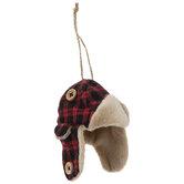 Buffalo Check Trapper Hat Ornament