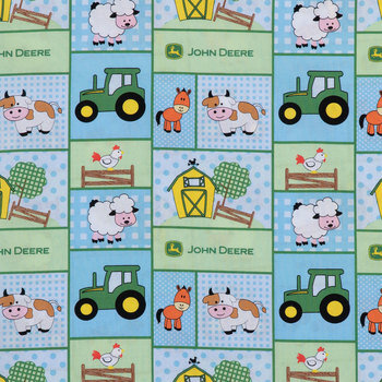 Baby John Deere Cotton Calico Fabric