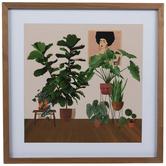 Boho Plants Framed Wood Wall Decor