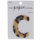 Tortoise Shell Letter Sticker - C