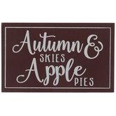 Autumn Skies & Apple Pies Wood Decor