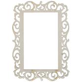 "Ornate Rectangle Open Wood Frame - 3"" x 5"""