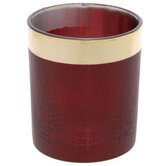 Red Tree Glass Candle Holder