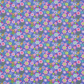 Purple Butterfly Floral Cotton Calico Fabric