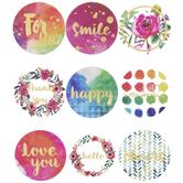 Bright Watercolor Seal Foil Stickers