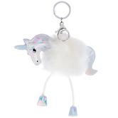 Unicorn Puff Keychain