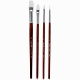 White Nylon All Purpose Paint Brushes - 4 Piece Set