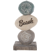 Beach Stone Stack Decor