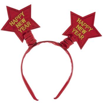 Red Happy New Year Star Headband