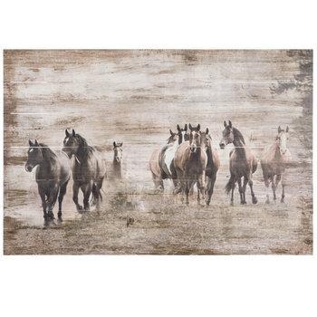 Printed Horses Wood Wall Decor