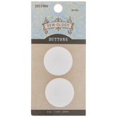 White Coat Shank Buttons - 25mm