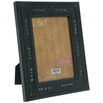 "Gray Rustic Wood Frame - 5"" x 7"""
