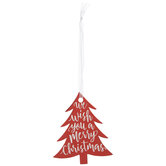 Merry Christmas Tree Foil Gift Tags