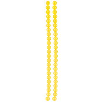 Yellow Round Bead Strands