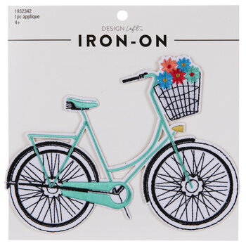 Floral Bike Iron-On Applique