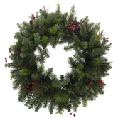 Pine Wreath With Pinecones & Berries