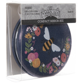 Bee Floral Compact Mirror