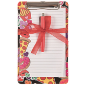Fun Food Mini Clipboard With Paper Pad & Pen