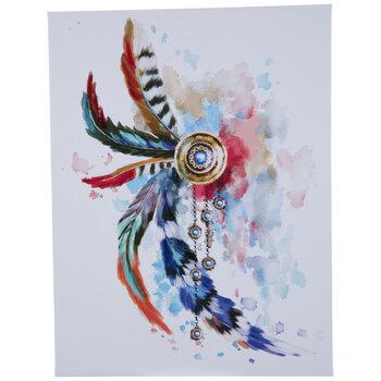 Feathered Medallion Canvas Wall Decor
