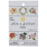 Floral Foil Stickers