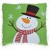 Snowman & Pom Pom Pillow