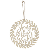 Joy To The World Wood Ornaments