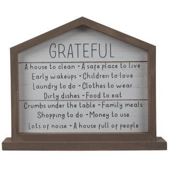 Grateful List Wood Decor