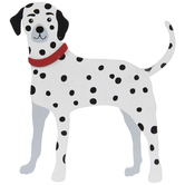 Dalmatian Dog Painted Wood Shape