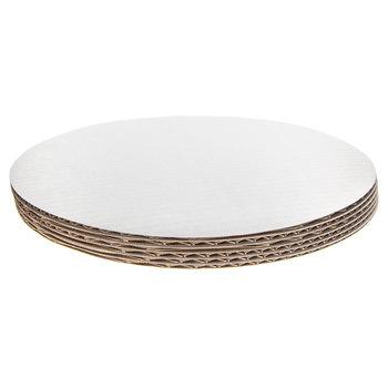 "White Round Cake Boards - 12"""