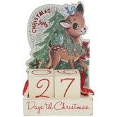 Christmas Countdown Vintage Wood Decor