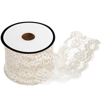 """Nylon Elastic Lace Trim - 2 1/8"""""""