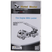 Fire Engine With Ladder Metal Model Kit