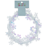 Iridescent White Mini Snowflake Garland