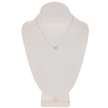 Sterling Silver Double Heart Chain Necklace
