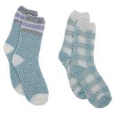 Light Blue Fuzzy Crew Socks