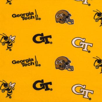 Georgia Tech Allover Collegiate Fleece Fabric