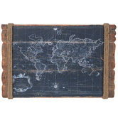 Vintage Map Wood Wall Decor
