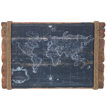 Vintage Map Wood Wall Decor