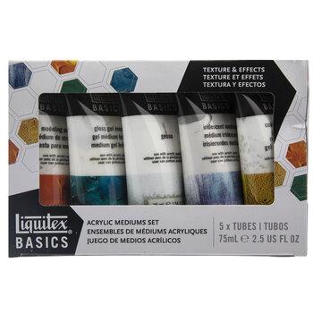 Liquitext Basics Acrylic Mediums - 5 Piece Set