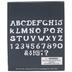 Uppercase Drawn Alphabet Stencils