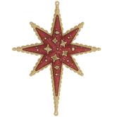 Red & Gold Bethlehem Star Ornament
