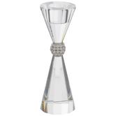 Rhinestone Glass Candle Holder