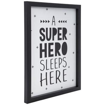 Superhero Sleeps Here Wood Wall Decor