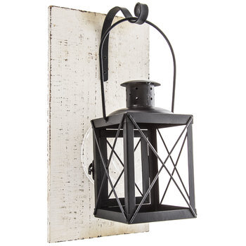 Black Mounted Metal Lantern