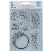 Live Laugh Love Wreath Clear Stamps