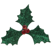 Glitter Holly Berry Embellishments