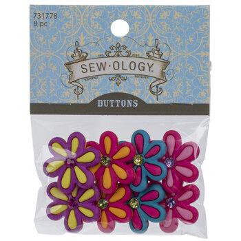Bright Flower Shank Buttons
